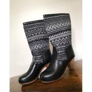 Sanita The OG Swedish Clogs Black RoundToe Boots 8